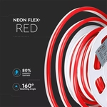 NEON FLEX ROOD 24V IP67 OPRUIMING