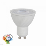 6W GU10 LED PLASTIC SPOT 4000K, Dag wit CRI>95