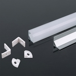 Hoek Aluminum Profiel 2000* 15.8*15.8MM met diffuser
