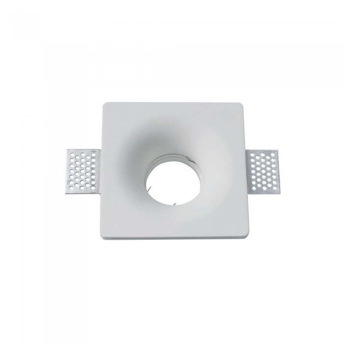 Trimless Inbouwspot GIPS - IP44 vierkant: Ø100x100x40mm