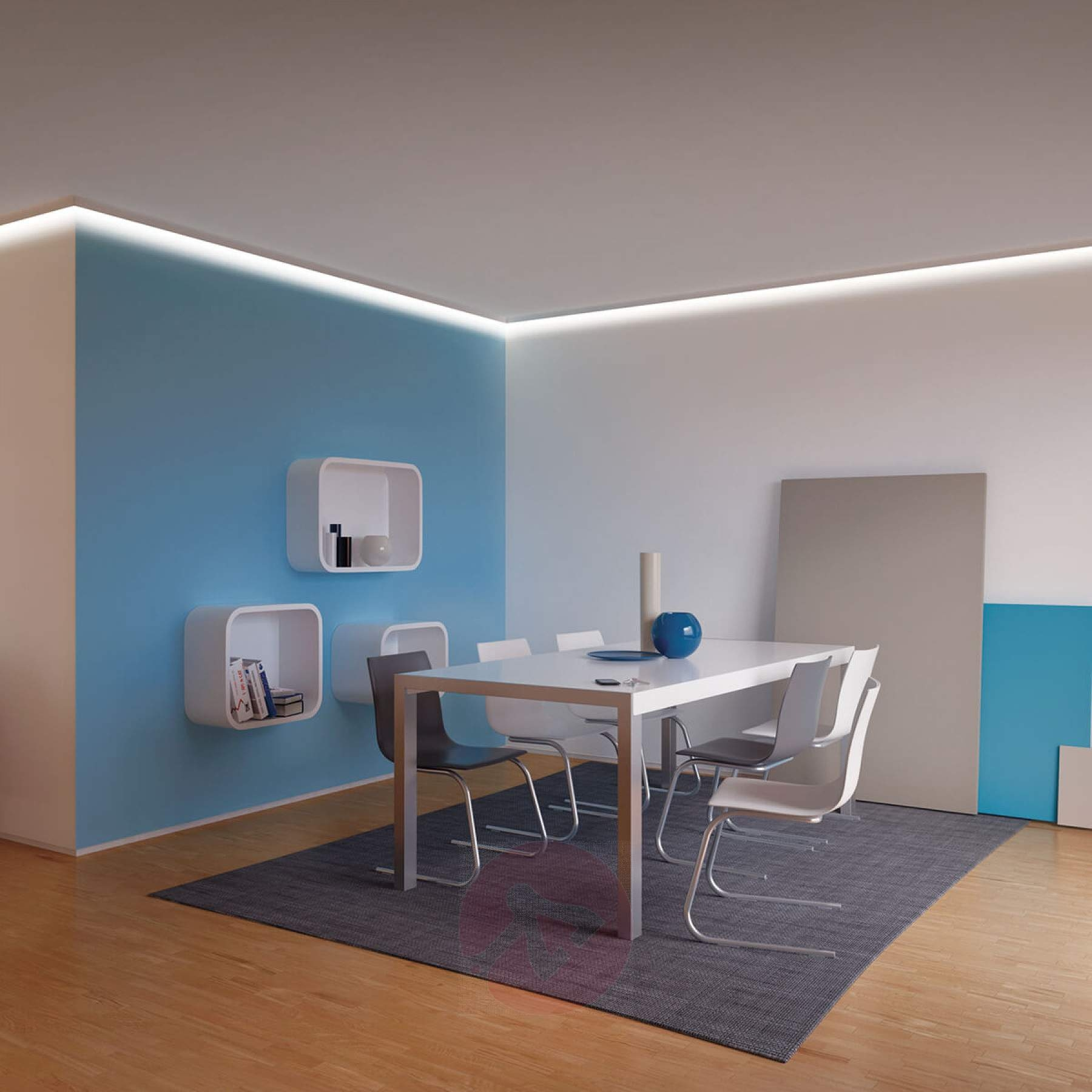100cm LED stucprofiel / gips profiel - een kant