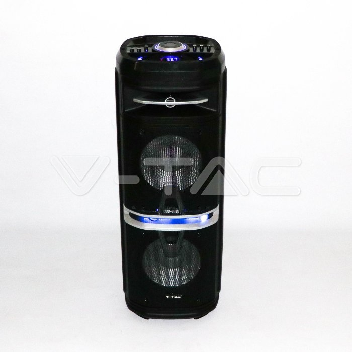 120W ALL-IN-ONE OPLAADBARE SPEAKER-1x draadloos+1 kabel MIC