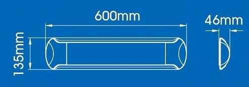 20W  LED ONDERBOUW/OPBOUW  60 cm