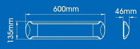 20W  LED ONDERBOUW/OPBOUW