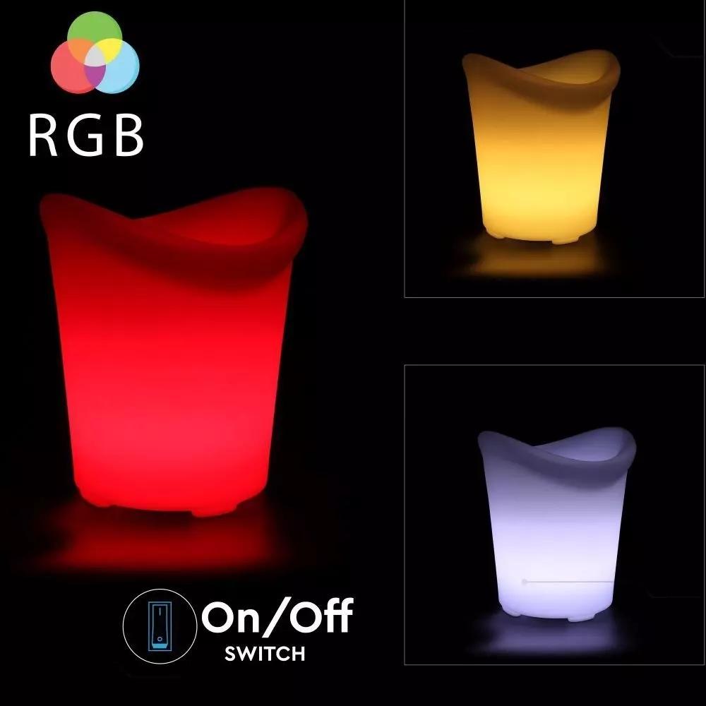 LED ICE BUCKET MET RGB D:29X33X35CM