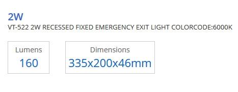 2W 16 LEDS NOOD VERLICHTING