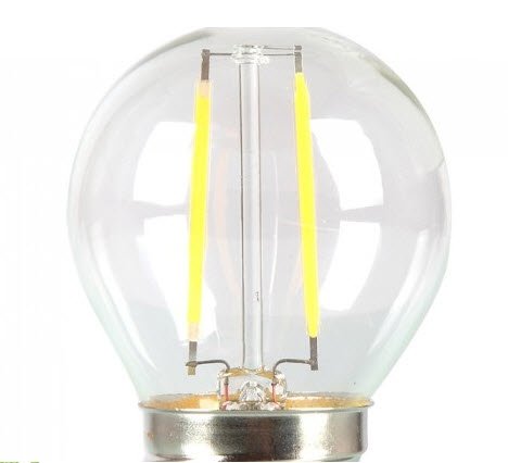 2W LED fillament E27 - G45