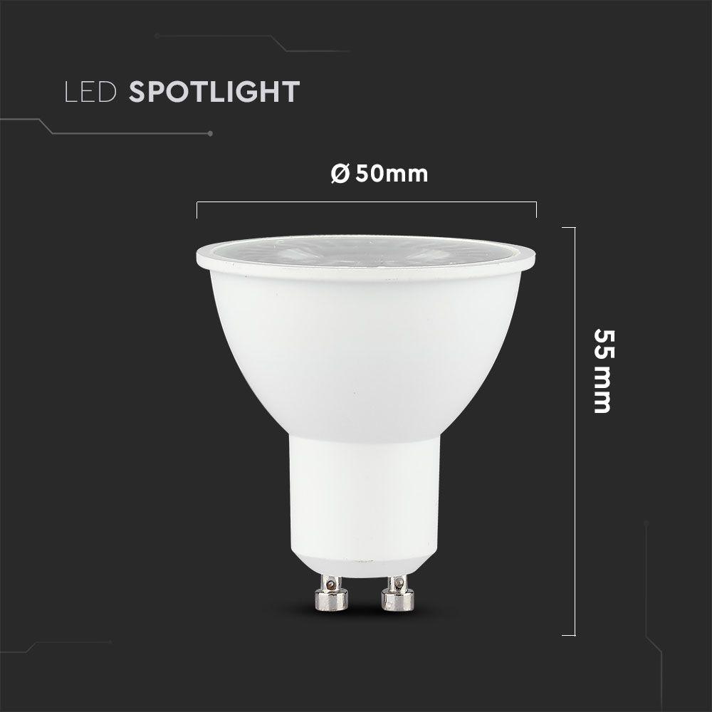 6W GU10 LED SPOT 2700K - Warm wit, CRI>95