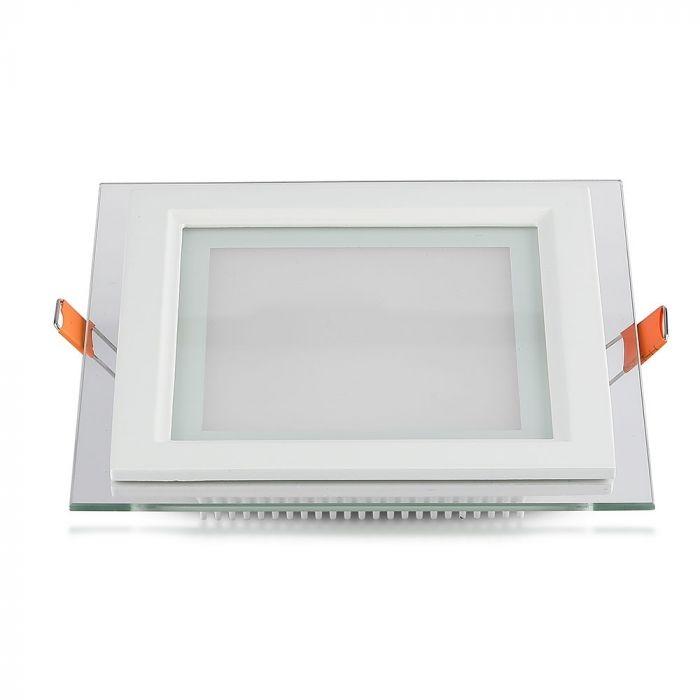 Design LED Paneel 6W Vierkant | Wit met glas