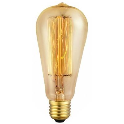 Edison vintage kooldraad bulb 40W ST-64 E27 2200K