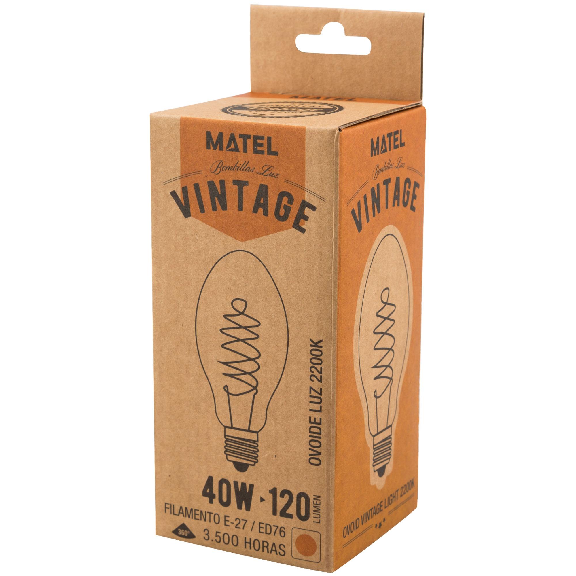 Edison vintage kooldraad bulb E27 40W dimbaar CILINDER