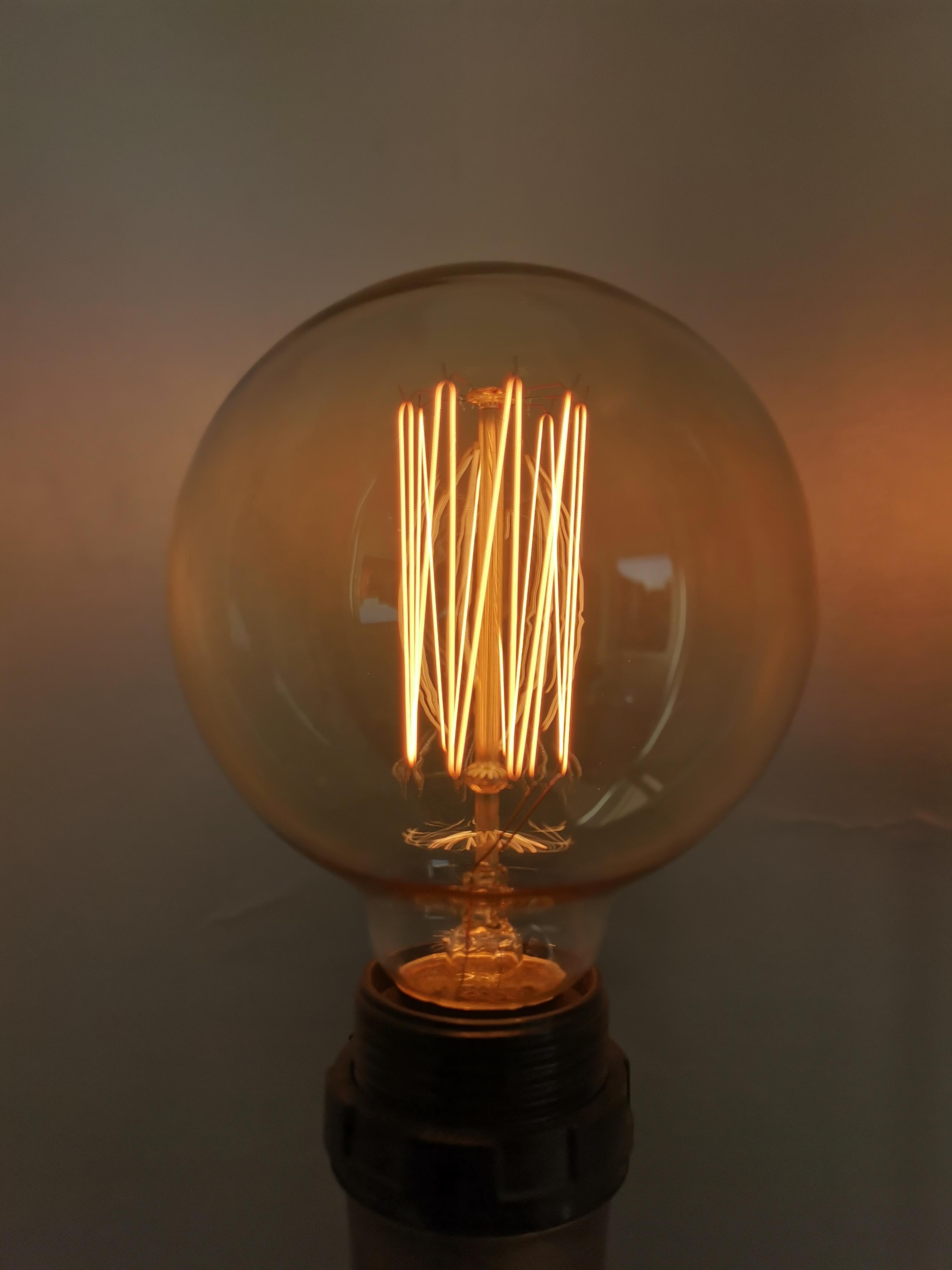 Edison vintage kooldraad bulb E27 40W dimbaar GLOBE