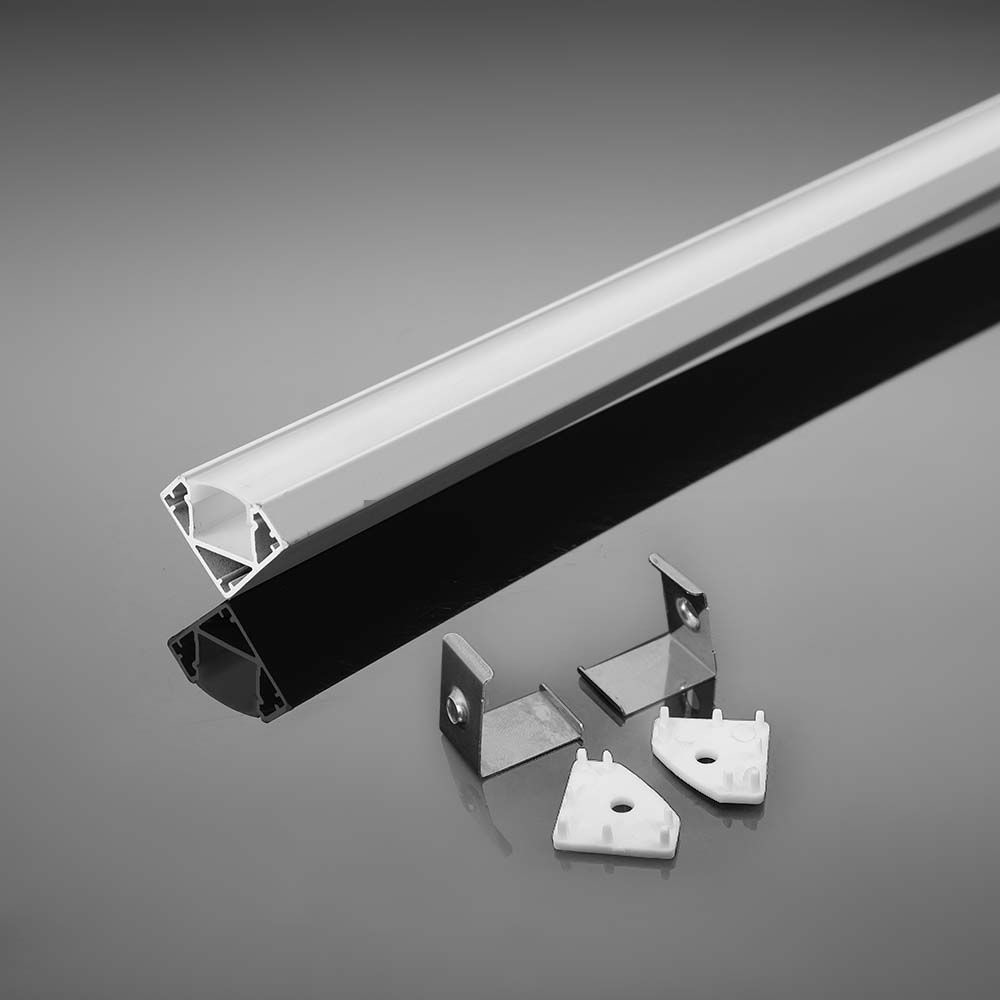 Hoek aluminium12MM 2000X19X19MM met mat diffuser