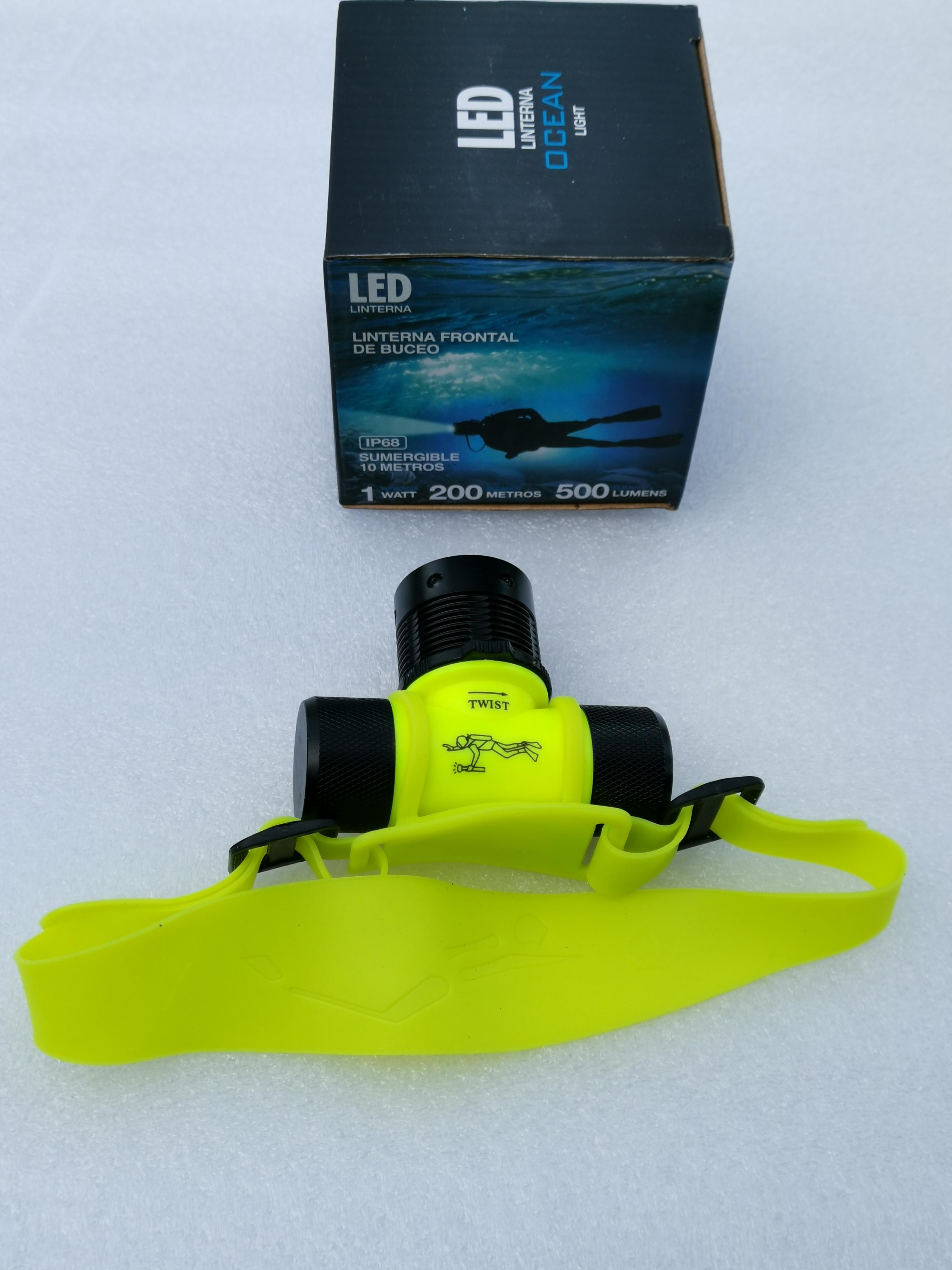 KORPASS OCEAN duiker hoofdlamp IP68 1W 500lm 200m bereik