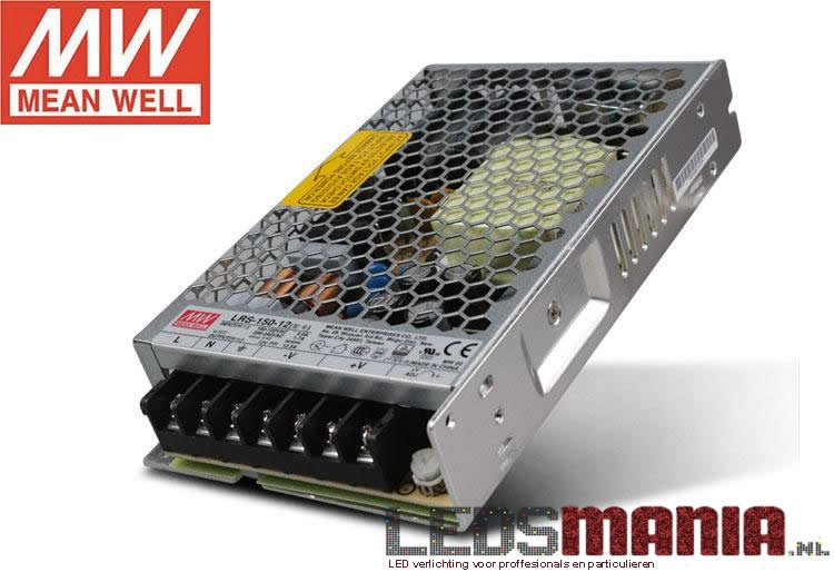 LED Omvormer, transformator | MEANWELL | 150 Watt – 12V