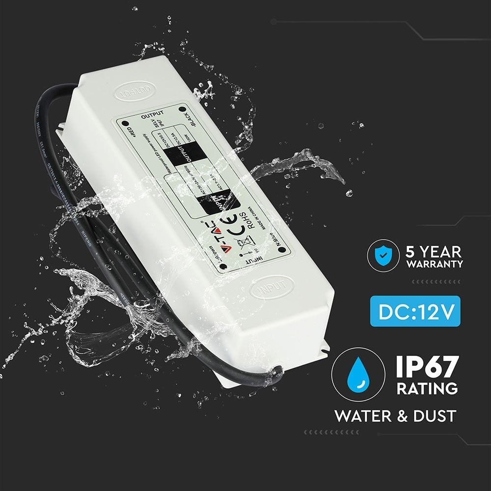 LED Omvormer 100W SLIM 12V 8.3A - IP67 waterdicht