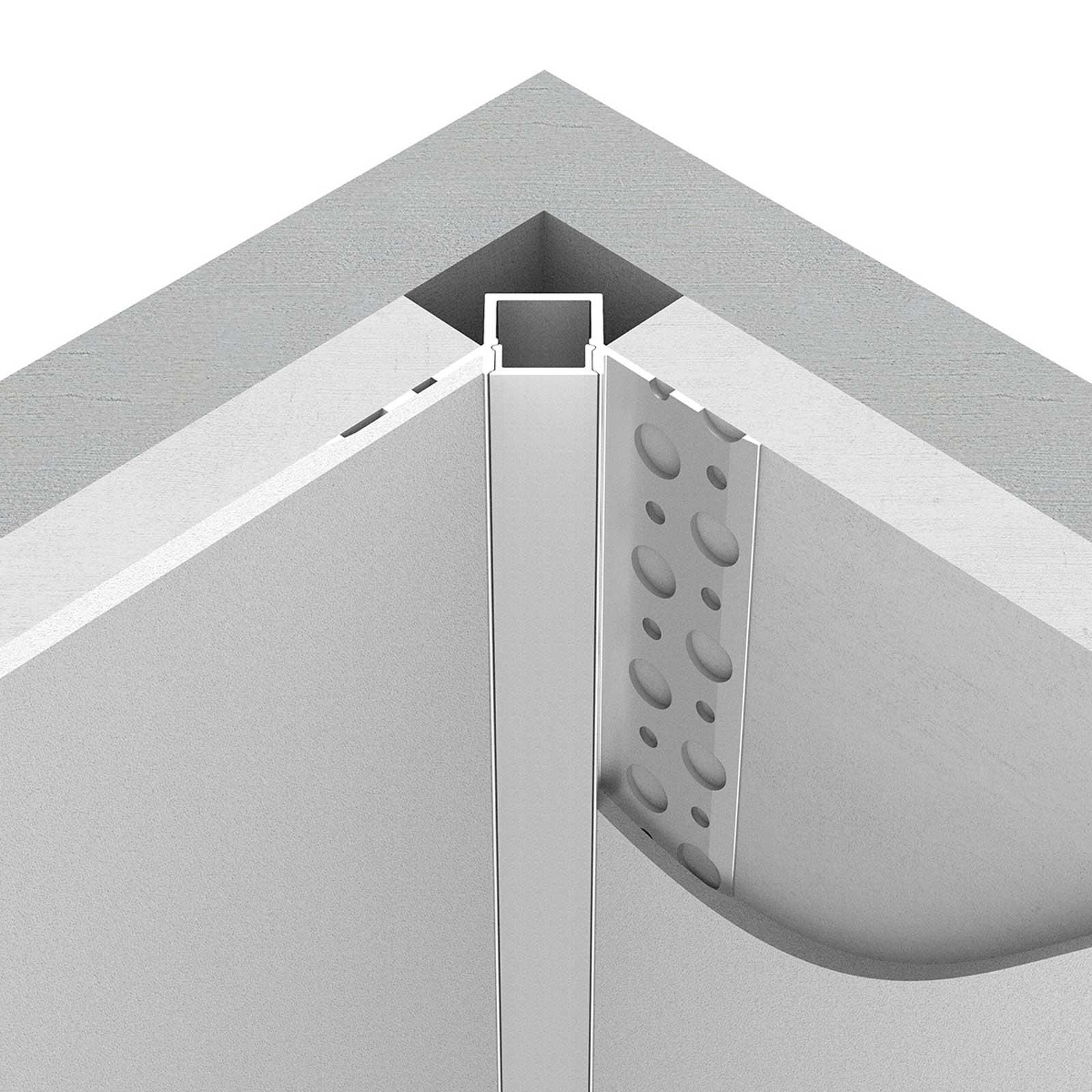 LED stucprofiel / Gips profiel  - BINNENHOEK 9 mm