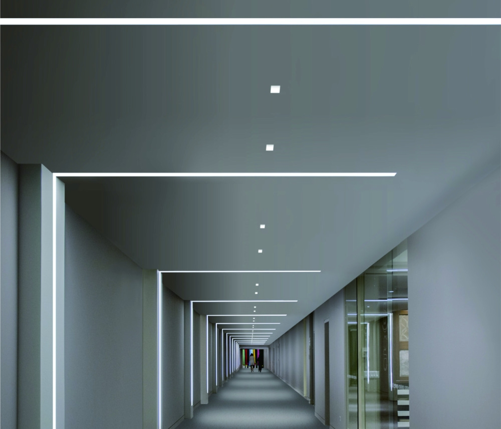 LED stucprofiel - gips profiel - 2x led strips achterbouw