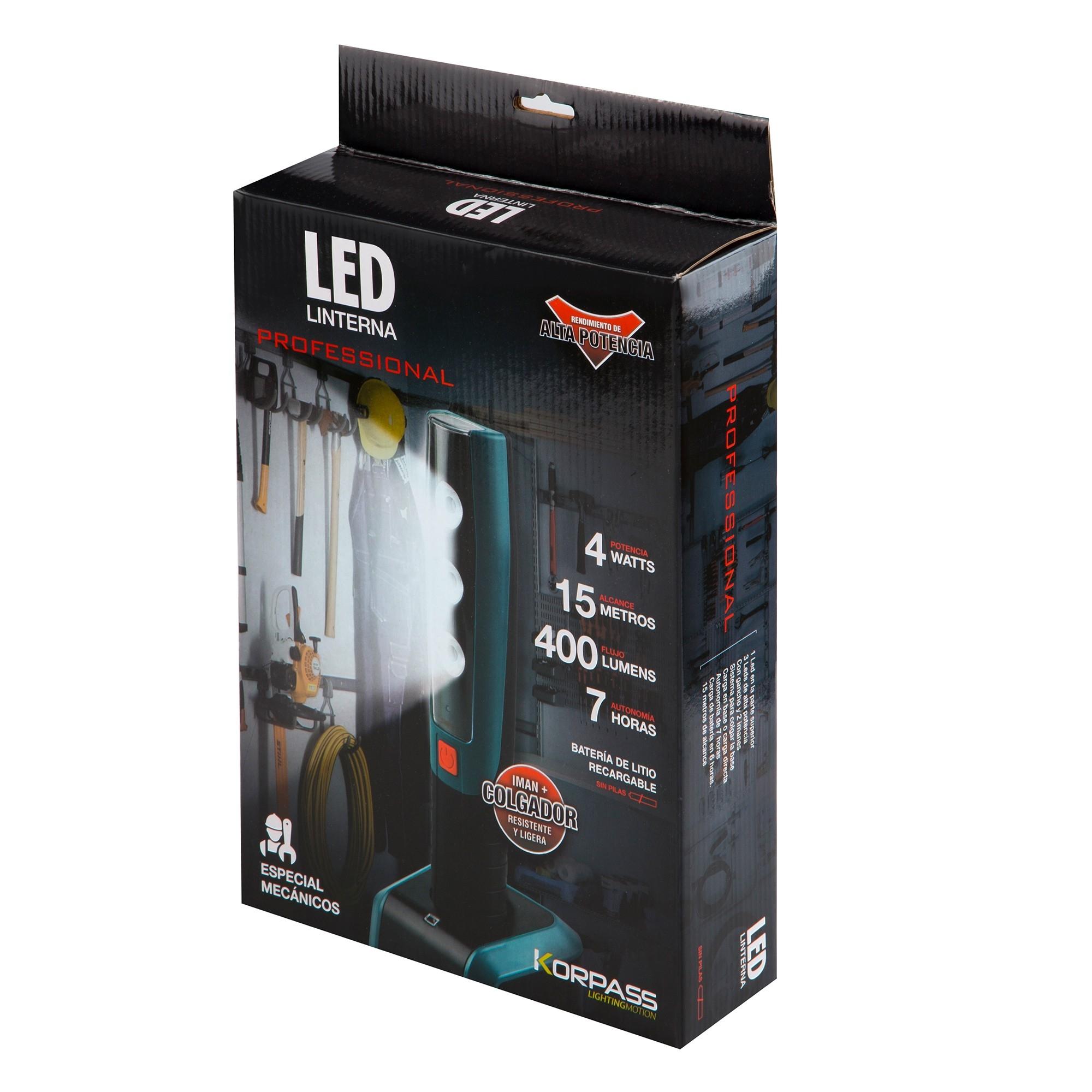 PORTABLE LED INSPECTIE LAMP MET MAGNEET EN BASE - 2 standen