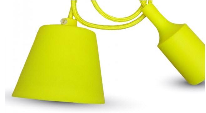 Silicone Armatuur hanglamp Geel