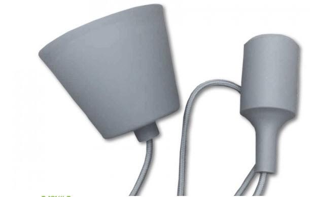 Silicone Armatuur hanglamp Grijs