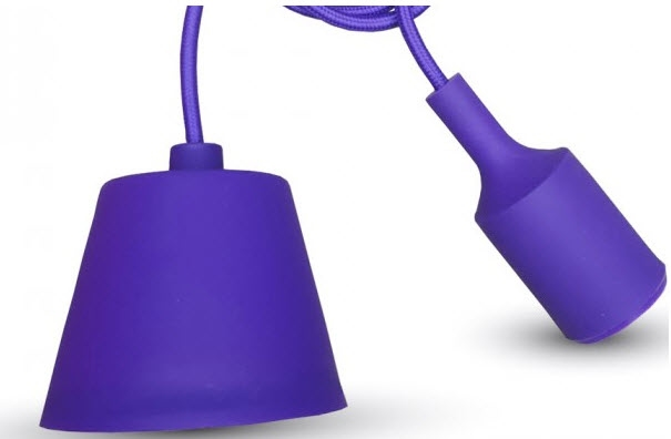 Silicone Armatuur hanglamp Paars