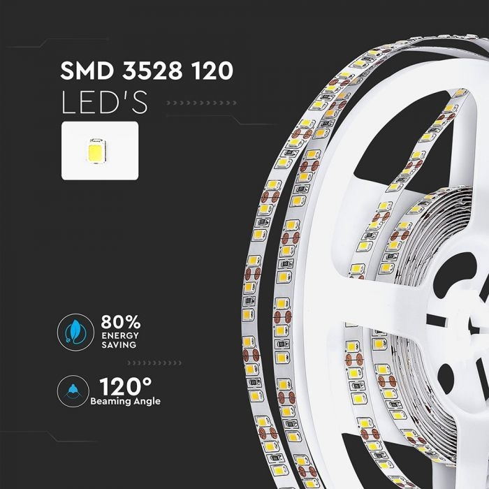 SMD3528-120 leds 7.2W/M LED STRIP 4500K IP20 (5M)