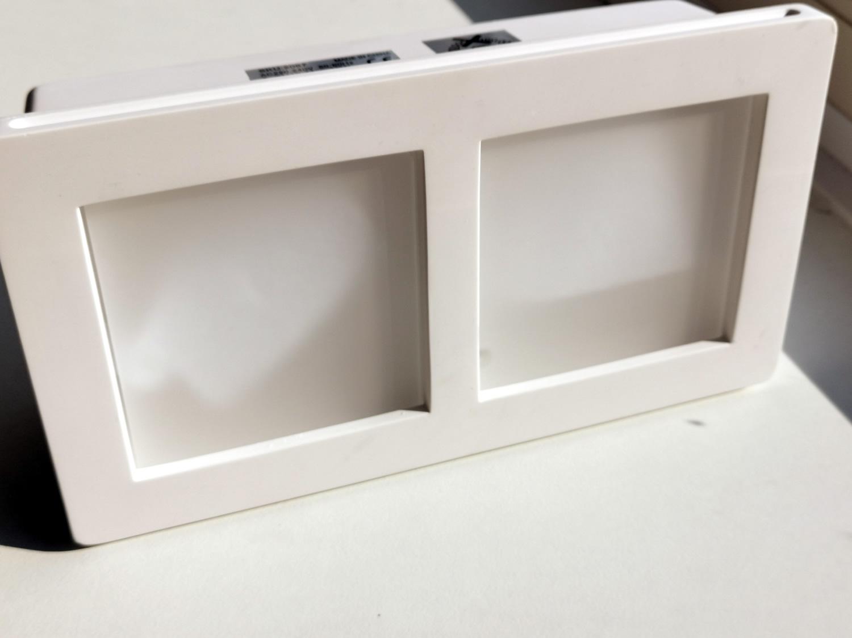 Trimless Inbouwspot GIPS 2x1 GU10 vierkant - met matt glas