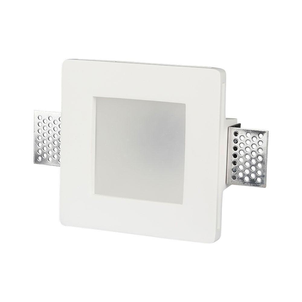 Trimless Inbouwspot GIPS met frost glas IP44-VIERKANT