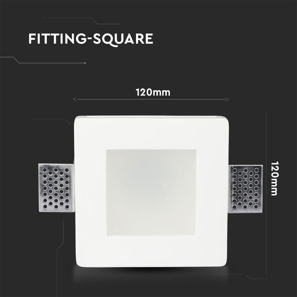 Trimless Inbouwspot GIPS met matt glas IP44-VIERKANT