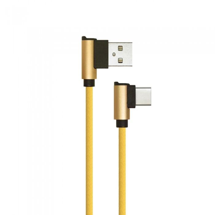 TYPE-C USB HAAKS KABEL GRIJS/ZWART/GOUD