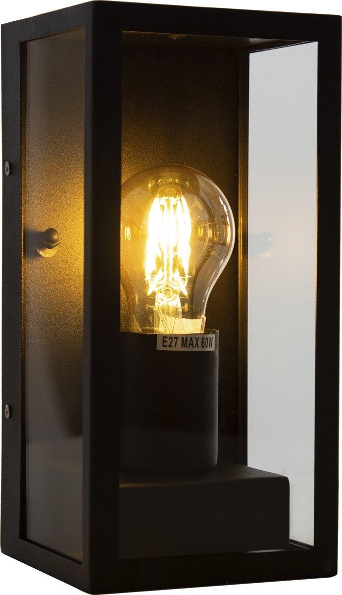 Vintage wandlamp zwart - BOX IP44 - E27